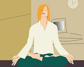 yoga meditation at work
