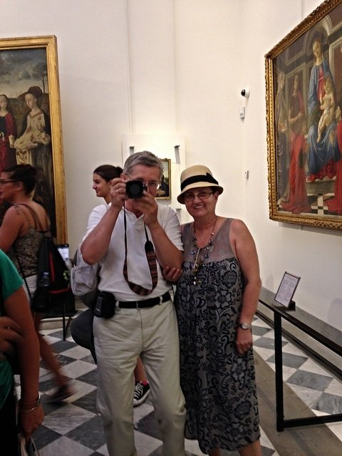 Oleg and Natasha at the Uffizi Galleries